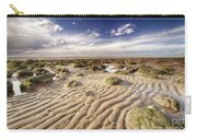 Golden Sand Lines And Seaweed Rocks Of Norfolk Carry-all Pouch