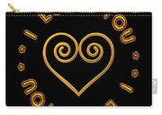 Golden Scrolled Heart And I Love You Carry-all Pouch