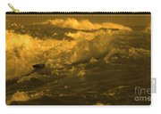 Golden Sea Waves Graphic Digital Poster Art By Navinjoshi At Fineartamerica.com Ideal For Wall Decor Carry-all Pouch