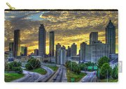 Golden Skies Atlanta Downtown Sunset Cityscape Art Carry-all Pouch