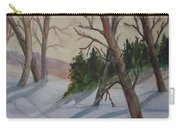 Golden Sky In The Snow Carry-all Pouch