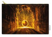 Golden Spinning Sphere Carry-all Pouch