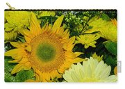 Golden Sunflower Yellow Bouquet By Kaye Menner Carry-all Pouch