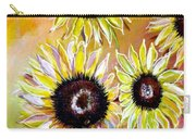 Golden Sunflowers Carry-all Pouch