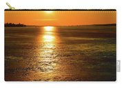 Golden Sunset Light On The Ice Two  Carry-all Pouch