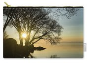 Golden Tranquility - Lacy Tree Silhouettes On The Lake Shore Carry-all Pouch