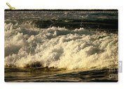 Golden White Wave Carry-all Pouch