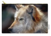 Golden White Wolf Carry-all Pouch