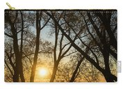 Golden Willow Sunrise - Greeting A Bright Day On The Lake Carry-all Pouch