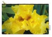 Golden Yellow Iris Flower Garden Irises Flora Art Prints Baslee Troutman Carry-all Pouch