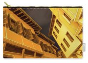 Golden Yellow Night - Chic Zigzags Of Oriel Windows And Serrated Roof Lines Carry-all Pouch