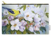 Goldfinch And Crabapple Blossoms Carry-all Pouch