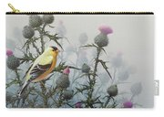 Goldfinch And Thistles Carry-all Pouch