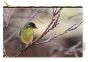 Goldfinch On Branch 032814a Carry-all Pouch