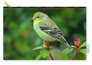 Goldfinch On Green Carry-all Pouch