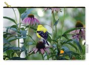 Goldfinch Visiting Coneflower Carry-all Pouch