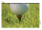 Golf Ball On Tee Carry-all Pouch