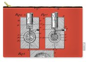 Golf Ball Patent Drawing Red Carry-all Pouch