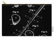 Golf Club Patent 1910 Black Carry-all Pouch