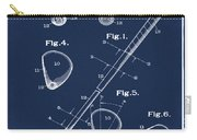 Golf Club Patent 1910 Blue Carry-all Pouch
