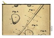Golf Club Patent 1910 Sepia Carry-all Pouch