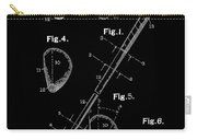 Golf Club Patent Drawing Black Carry-all Pouch