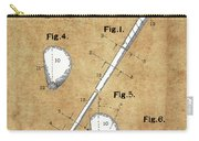 Golf Club Patent Drawing Vintage Carry-all Pouch