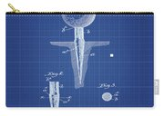 Golf Tee Patent 1899 Blueprint Carry-all Pouch
