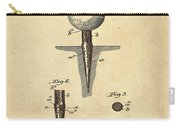 Golf Tee Patent 1899 Sepia Carry-all Pouch
