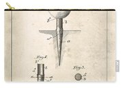 Golf Tee Patent - Patent Drawing For The 1899 G. F. Grant Golf Tee Carry-all Pouch