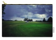 Golfing Before The Rain Golf Cart 01 Carry-all Pouch