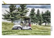 Golfing Before The Rain Golf Cart 03 Carry-all Pouch