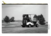 Golfing Golf Cart 06 Bw Carry-all Pouch