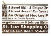 Golteez  Celebrates Carole Spandau Original Hockey Paintings Carry-all Pouch