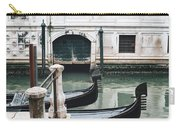 Gondolas On A Canal In Venice, Italy Carry-all Pouch