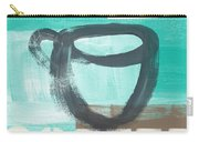 Good Days Start With Coffee In Blue- Art By Linda Woods Carry-all Pouch