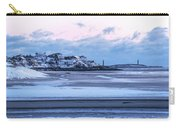 Good Harbor Beach And Thacher Island Covered In Snow Gloucester Ma Carry-all Pouch
