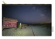 Good Harbor Beach Sign Under The Stars And Milky Way Carry-all Pouch