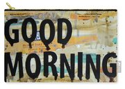 Good Morning Coffee Collage 9x12 Carry-all Pouch
