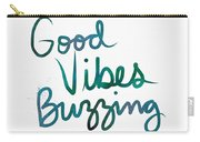 Good Vibes Buzzing- Art By Linda Woods Carry-all Pouch