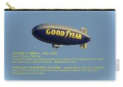 Good Year Blimp The Spirit Of America 2002 2015  Carry-all Pouch