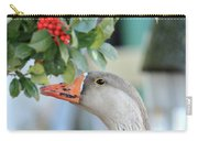 Goose Eating Berries Carry-all Pouch