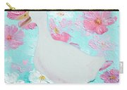 Goose On Floral Background Carry-all Pouch