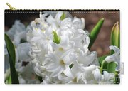 Goregeous White Flowering Hyacinth Blossom Carry-all Pouch