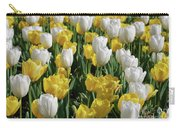 Gorgeous Blooming Field Of White And Yellow Tulips Carry-all Pouch