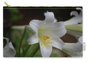 Gorgeous Blooming White Lily With Yellow Pollen On It's Stamen Carry-all Pouch