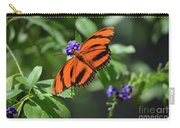 Gorgeous Close Up Of An Oak Tiger Butterfly In Nature Carry-all Pouch