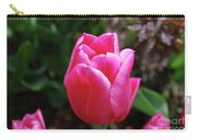 Gorgeous Dark Pink Tulip Blooming In A Garden Carry-all Pouch