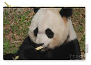 Gorgeous Face Of A Giant Panda Bear With Bamboo Carry-all Pouch