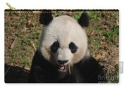 Gorgeous Face Of A Panda Bear Eating Bamboo Carry-all Pouch